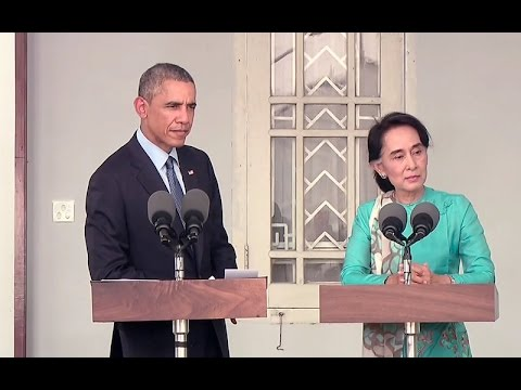 President Obama and Ang San Suu Kyi Hold a Press Conference
