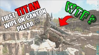 ARK Official PVP | First TITAN that WIPES a CANYON PILLAR ?!  | 2G1T WIPING small tribes | ep. 2