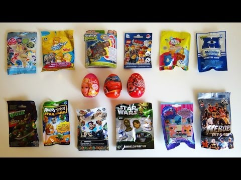 Surprise Eggs & Blind Bags Barbie. Disney Cars. Lego Movie. Ben 10. Scatter Brainz. Angry Birds