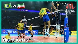 Brazil vs Iran | Highlights | 12 Jul | Final Round | Men's VNL 2019