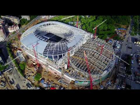 Строящийся стадион Динамо