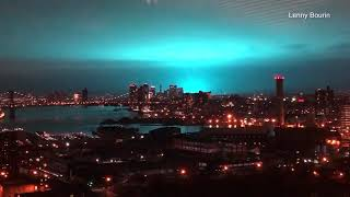 No aliens: NY transformer explosion lights sky, knocks power