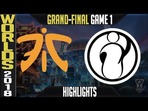 FNC vs IG Highlights Game 1   Worlds 2018 Grand-final   Fnatic vs Invictus Gaming G1