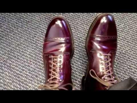 J. Crew Alden shell cordovan cap toe boots