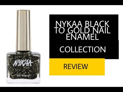 NYKAA BLACK TO GOLD NAIL ENAMEL COLLECTION|STAY IN ALIVE| Beauteous Reshmi