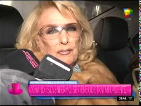 Mirtha Legrand trató a Chano de enfermo y que debe recuperarse
