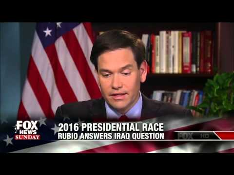 Marco Rubio and Chris Wallace Spar over Iraq Flip Flops