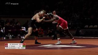 2019.02.22 #10 NC State Wolfpack at #14 Virginia Tech Hokies Wrestling