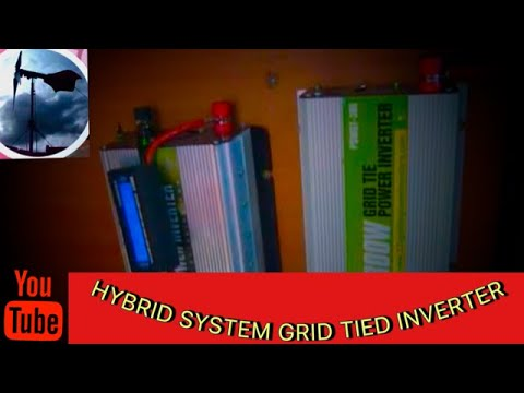 wind turbine, solar panel, hybrid system, grid tie inverter 300/600watts