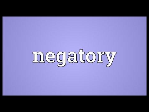 Header of negatory