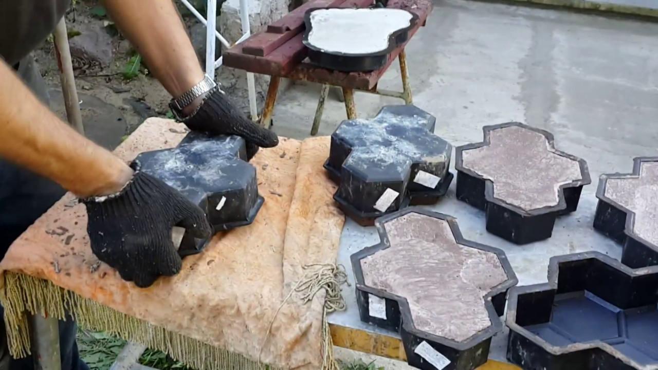 Технология изготовления тротуарной плитки своими руками 17