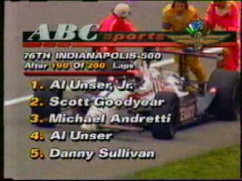 92 Indy 500 - Michael Andretti engine quits on him