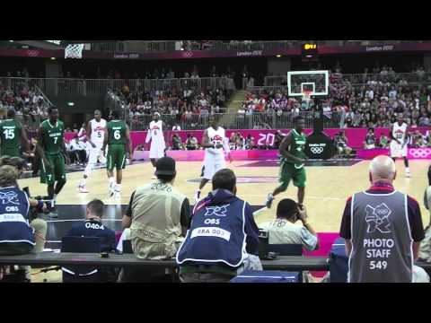 USA vs Nigeria - Olympic Basketball 2012 Highlights