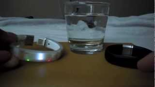2 nike+ fuelband water drop test - nike plus fuel band underwater shower waterproof proof test