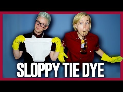 SLOPPY TIE DYE (ft. Hannah Hart) | Tyler Oakley thumbnail