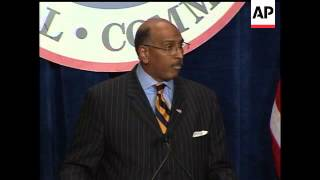 Michael Steele was elected Republican National Committee chairman on Friday, defeating the incumbent