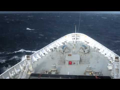 Crazy Monster wave hits cruise ship