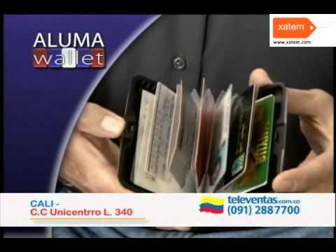 ALUMA WALLET Cartera de Aluminio Anunciado en TV