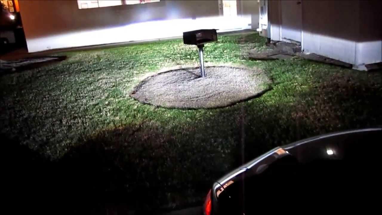 H8 30W CREE LED Fog Light on 2013 Honda Accord Coupe - YouTube