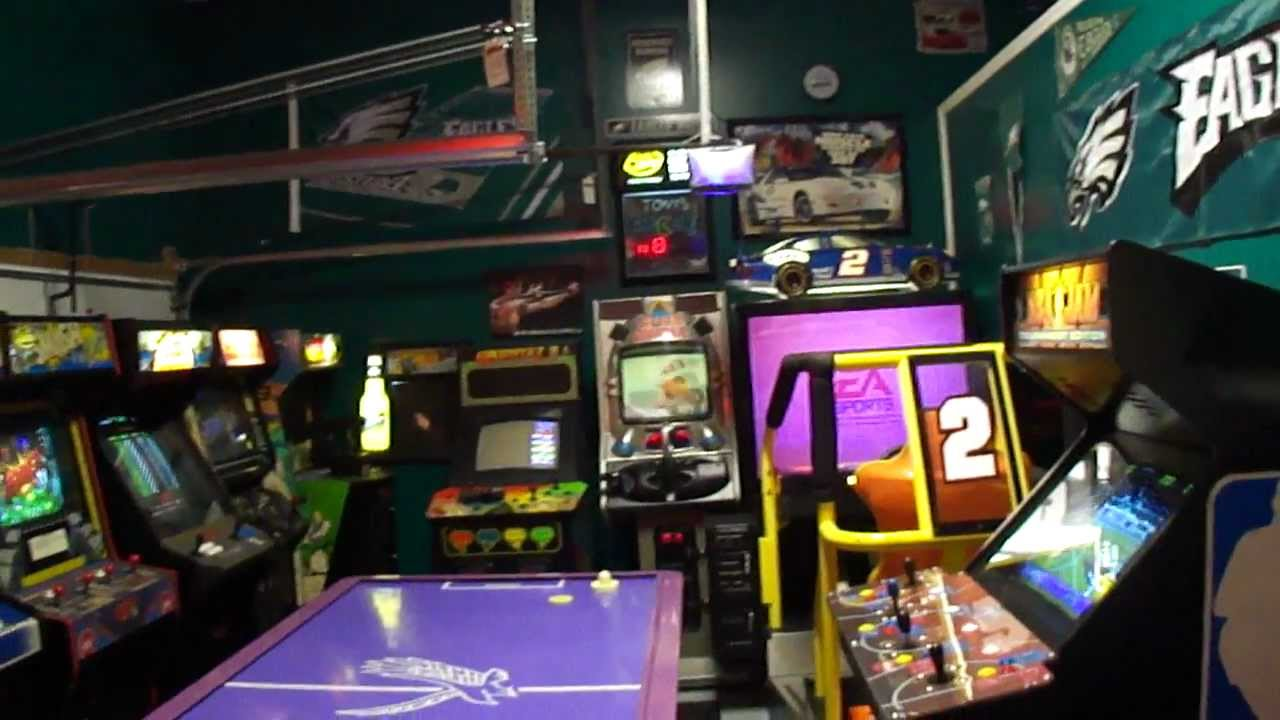 ideas to make a garage a family room - My Arcade Game Room Updated