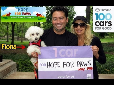 Please vote for Hope For Paws TODAY - May 19 to win a new rescue vehicle.