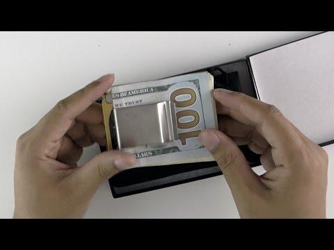 Decadent Minimalist DMC Titanium Money Clip Brushed - Review and Demo (4K)