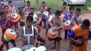 WOW! Khmer Surin Kids play Traditional Drum very well
