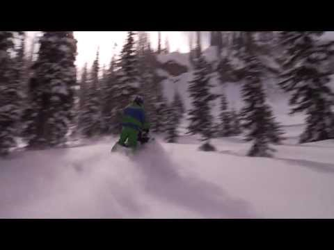 2013 HD snowmobile teaser  just 4 the love of it - Deeep powder Go Pro - HD 720p