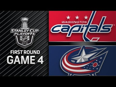 Washington Capitals vs Columbus Blue Jackets – Apr. 19, 2018 | Game 4 | Stanley Cup 2018. Обзор