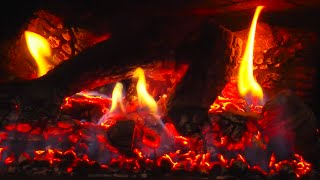 😊 10 Hours Fireplace HD Video with Crackling Flames & Glowing Embers | White Noise
