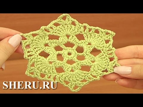 Вязание крючком шестиугольного мотива видео