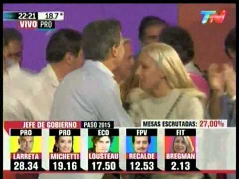 Clásico: el baile de Mauricio Macri para festejar la victoria del PRO (PASO 2015)