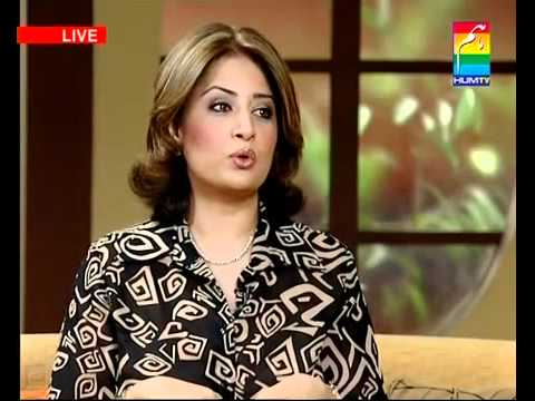 Atiqa Odho in Hum TV Morning Show 2008 (Part 1)