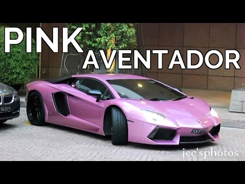PINK Lamborghini Aventador with iPE Exhaust - Arrival and Loud Startup!