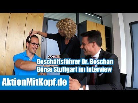 Die Funktion Einer Börse L Geschäftsführer Der Börse Stuttgart Dr. Boschan Im Interview