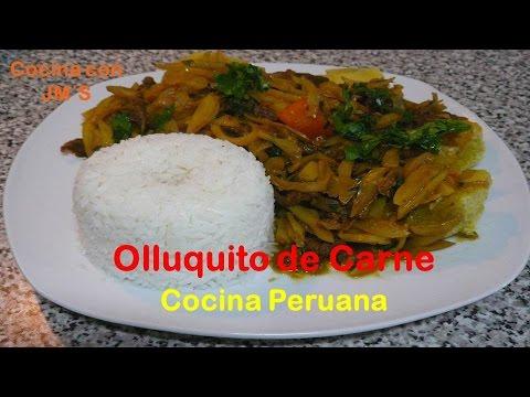 OLLUQUITO CON CARNE - RECETAS - COCINA PERUANA