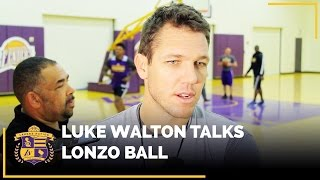 Luke Walton Talks Lonzo Ball, After Attending UCLA Game Last Night