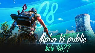 🔴PUBG MOBILE LIVE : ALPHA KI PUBLICK KYA BOLTI || ROAD TO 1 MILLION! || H¥DRA | Alpha 😬😇