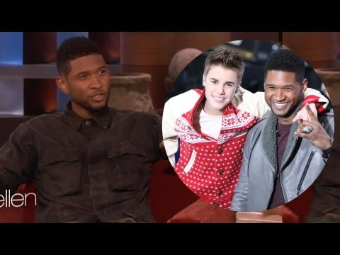 Usher Stands Up For Justin Bieber on Ellen Show VIDEO