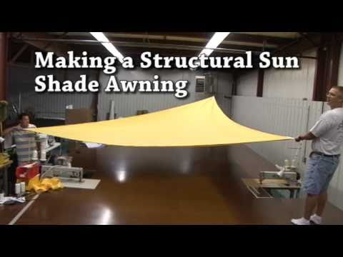 Building a Structural Awning - Sail Shades - Triangular Awning