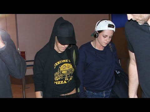 Kristen Stewart And Alicia Cargile Arrive Hand-In-Hand To LAX