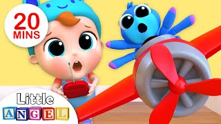Baby Helps Itsy Bitsy Spider | Nursery Rhymes by Little Angel
