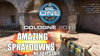 ESL ONE COLOGNE AMAZING SPRAYDOWNS w/reactions [HD60fps]