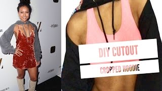 Style For Less: DIY Cutout Karrueche Inspired Cropped Hoodie