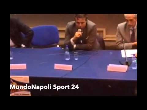 Cristiano Giuntoli all'Università Parthenope di Napoli