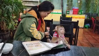 Monkey Baby Nui | Nui's family went to eat