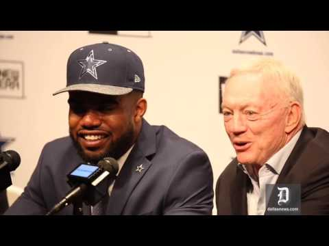 Dallas Cowboys introduce Ezekiel Elliott