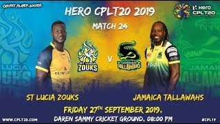 Match 24 Highlights | #SLZvJT | #CPL19