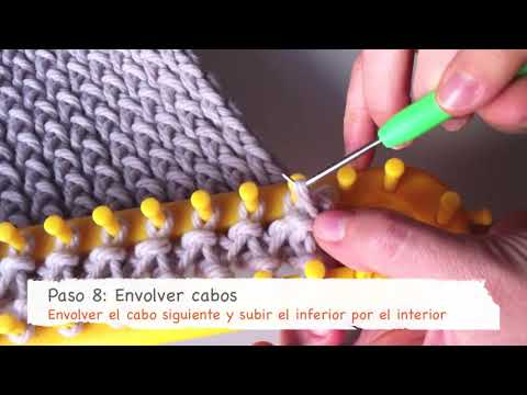 Cómo tejer una bufanda básica con telar rectangular en punto cruzado