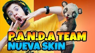 NUEVA *SKIN FORTNITE 🐼 OSITO PANDA TEAM LEADER EN VIVO CON HUGO MARKER 🔴